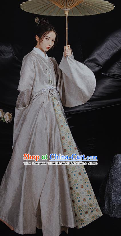 China Ancient Swordsman Hanfu Robe Garment Traditional Ming Dynasty Nobility Childe Historical Costume