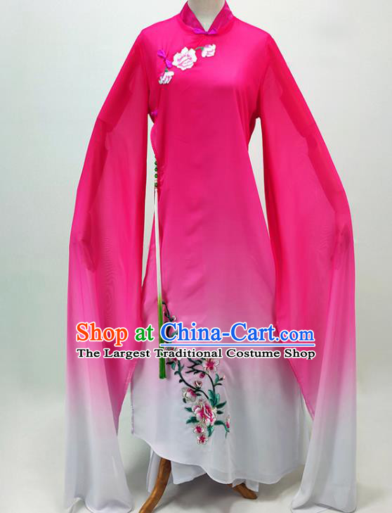 Chinese Traditional Peking Opera Hua Tan Rosy Dress Shaoxing Opera Actress Garment Beijing Opera Diva Clothing
