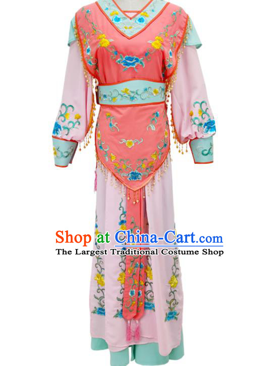 Chinese Peking Opera Hua Tan Dress Traditional Shaoxing Opera Fairy Garment Beijing Opera Young Beauty Clothing